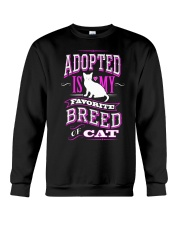 Adopted is my favorite breed of cat - Funny Cat Crewneck Sweatshirt thumbnail