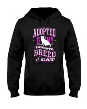 Adopted is my favorite breed of cat - Funny Cat Hooded Sweatshirt thumbnail