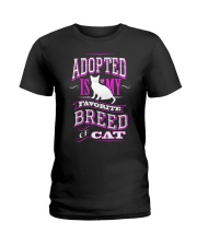 Adopted is my favorite breed of cat - Funny Cat Ladies T-Shirt thumbnail