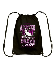 Adopted is my favorite breed of cat - Funny Cat Drawstring Bag thumbnail