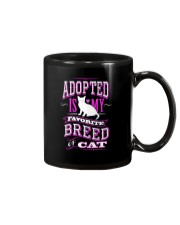 Adopted is my favorite breed of cat - Funny Cat Mug thumbnail