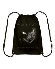 Black Cat Drawstring Bag thumbnail