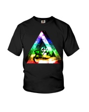 Rainbow Triangle Cat Youth T-Shirt thumbnail