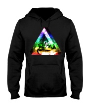 Rainbow Triangle Cat Hooded Sweatshirt thumbnail