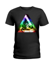 Rainbow Triangle Cat Ladies T-Shirt thumbnail