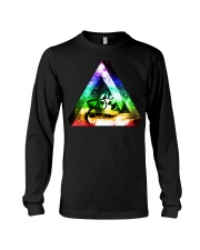 Rainbow Triangle Cat Long Sleeve Tee thumbnail