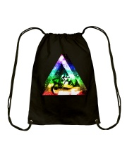 Rainbow Triangle Cat Drawstring Bag thumbnail