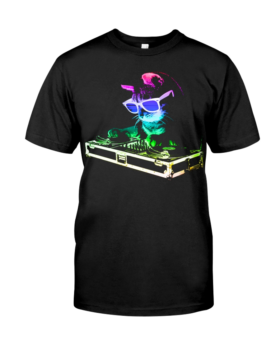 HOUSE CAT - Rainbow DJ Kitty Classic T-Shirt