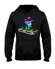 HOUSE CAT - Rainbow DJ Kitty Hooded Sweatshirt thumbnail