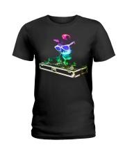 HOUSE CAT - Rainbow DJ Kitty Ladies T-Shirt thumbnail