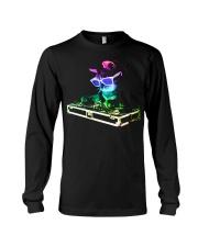 HOUSE CAT - Rainbow DJ Kitty Long Sleeve Tee thumbnail