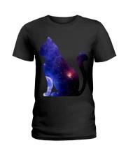 Cat imagine the universe Ladies T-Shirt thumbnail