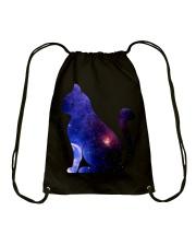 Cat imagine the universe Drawstring Bag thumbnail