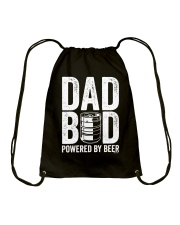 Dad Bod Powered By Beer Slim Fit T-Shirt Drawstring Bag thumbnail