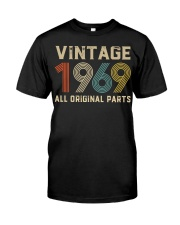 50th Birthday Gift Vintage 1969 T-Shirt Men Women Classic T-Shirt front