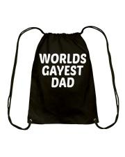 Gay Pride Worlds Gayest Dad Slim Fit T-Shirt Drawstring Bag thumbnail