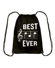 Best Dad Ever Funny Music Note Father Drawstring Bag thumbnail