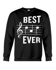 Best Dad Ever Funny Music Note Father Crewneck Sweatshirt thumbnail