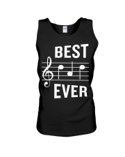 Best Dad Ever Funny Music Note Father Unisex Tank thumbnail