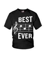 Best Dad Ever Funny Music Note Father Youth T-Shirt thumbnail
