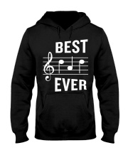 Best Dad Ever Funny Music Note Father Hooded Sweatshirt thumbnail