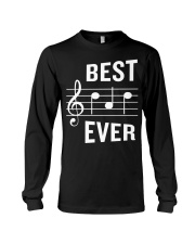 Best Dad Ever Funny Music Note Father Long Sleeve Tee thumbnail