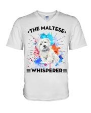 MALTESE V-Neck T-Shirt thumbnail