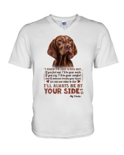 Vizsla V-Neck T-Shirt tile
