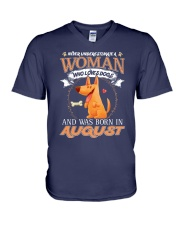 Dog V-Neck T-Shirt thumbnail