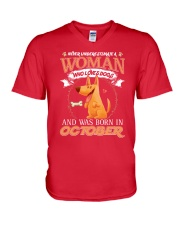 Dog V-Neck T-Shirt front