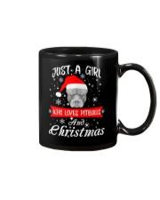 Just a Girl loves Pit Bull and Christmas Mug thumbnail