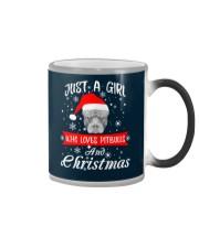Just a Girl loves Pit Bull and Christmas Color Changing Mug thumbnail