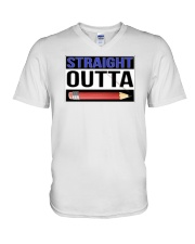 Straight Outta Pencils V-Neck T-Shirt thumbnail