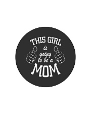 The girl is going to be a mom Circle Cutting Board thumbnail