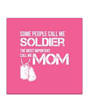 Soldier mom Square Coaster thumbnail