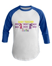 Baby Teacher Baseball Tee front