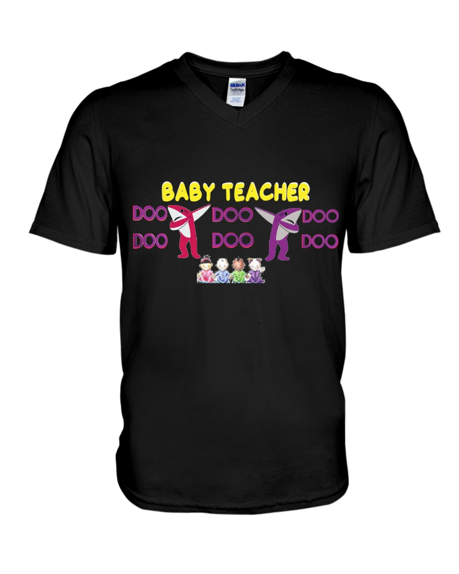 Baby Teacher V-Neck T-Shirt