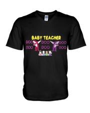 Baby Teacher V-Neck T-Shirt front