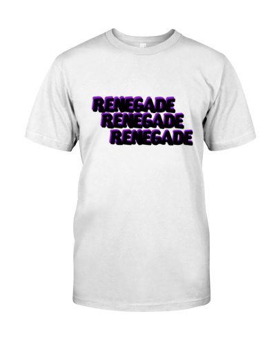 Renegade T-Shirt with Black and Purple Logo