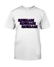 Renegade T-Shirt with Black and Purple Logo  Classic T-Shirt front