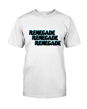 Renegade T-Shirt with Blue and Black Logo  Classic T-Shirt front