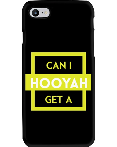 Can I Get A Hooyah Phone Case - Yellow Logo