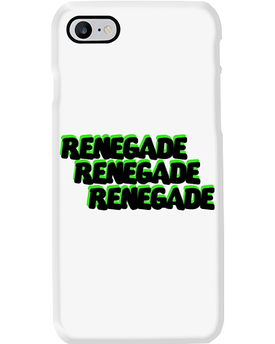 Renegade Black and Green Logo Phone Case