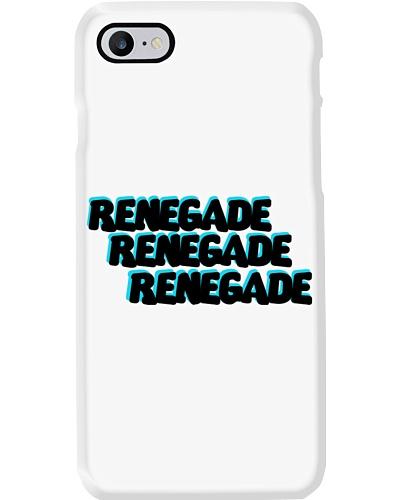 Renegade Black with Blue Logo Phone Case