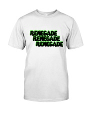 Renegade T-Shirt with Black and Green Logo  Classic T-Shirt front