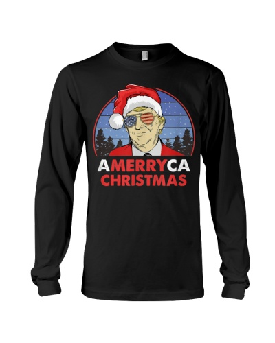 Amerryca Christmas Funny Holiday Trump T-Shirt