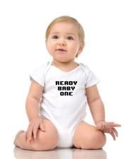 Ready Baby One 8-bit Onesie lifestyle-onesie-front-2