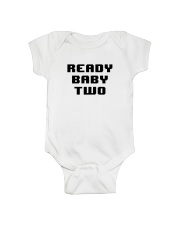 Ready Baby Two 8-bit Onesie front