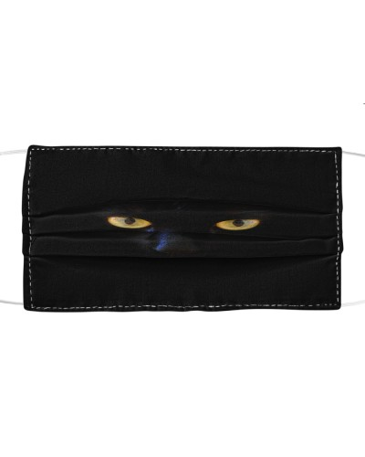 Golden-Eyed Black Cat Face Mask