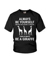 Always Be Yourself Giraffe Lover Funny T-shirt Youth T-Shirt thumbnail